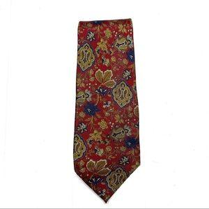 Fendi Cravatte silk tie red floral print